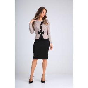 SANDYNA 130111 пудра-черный Платье
