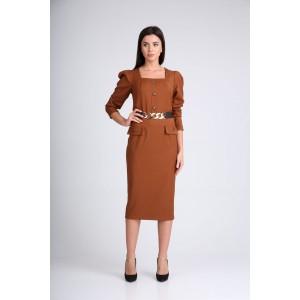 SANDYNA 130115 орехово-коричневый Платье