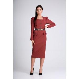 SANDYNA 130115 винный Платье