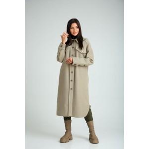 SANDYNA 130601 оливковый Пальто