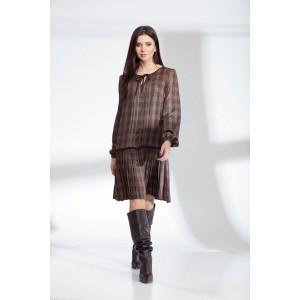 SANDYNA 13900 шоколадно-коричневый Платье
