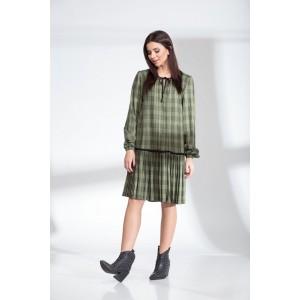SANDYNA 13900 темно-оливковый Платье