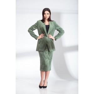 SANDYNA 13902 яблочно-зеленый Костюм юбочный