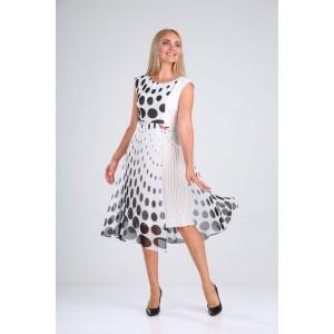 SANDYNA 13976 черно-белый Платье