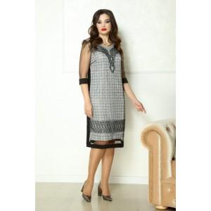 SOLOMEYA LUX 761 черный с серебром Платье